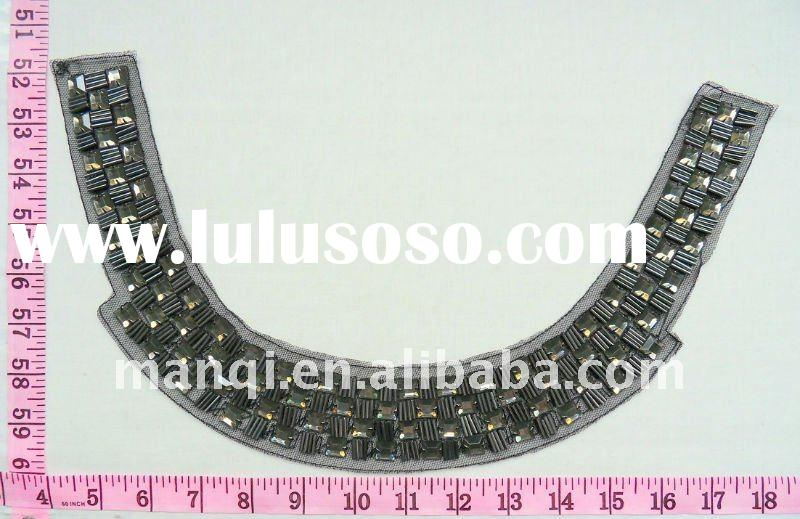 2012 Elegant fashion handmade beaded collar for garment