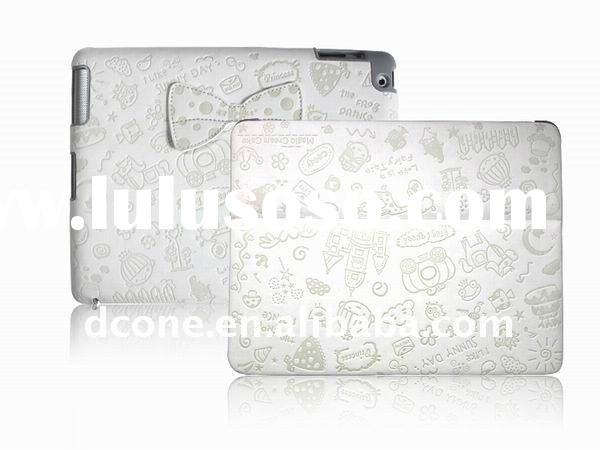 Fashion design leather case cover for ipad2, for ipad2 leather cover,magic pattern leather case