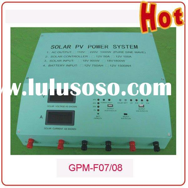 GP-F08 1000W Solar Converter and Controller incorporated system case for 500W solar home system
