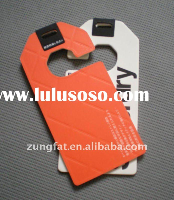 High quality soft touch paper hangtag