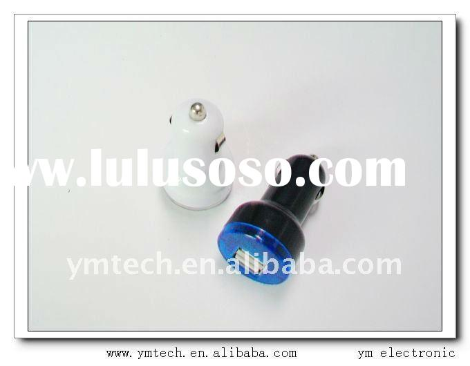 Hot !!! 2.1A mini double USB car charger for ipad /iphone