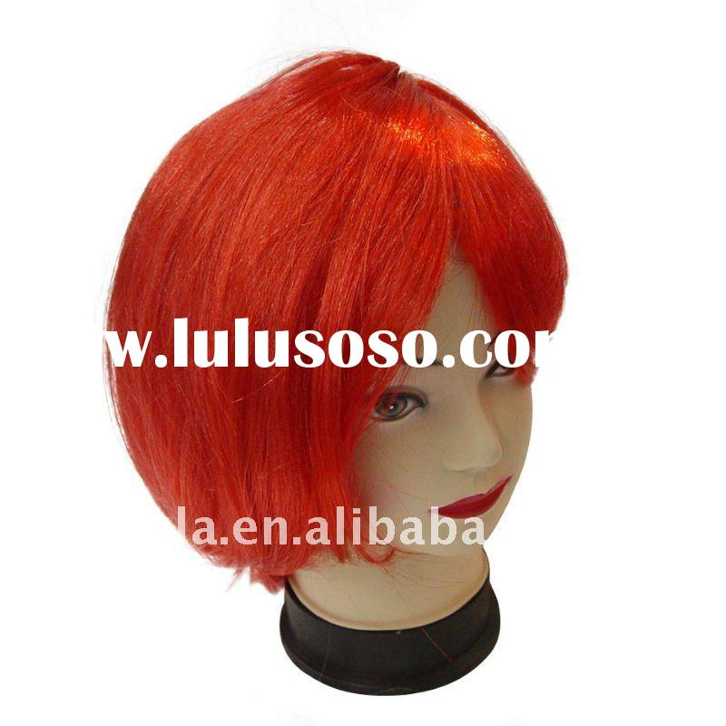 Hot halloween artificial beautiful red short hairs party hairs