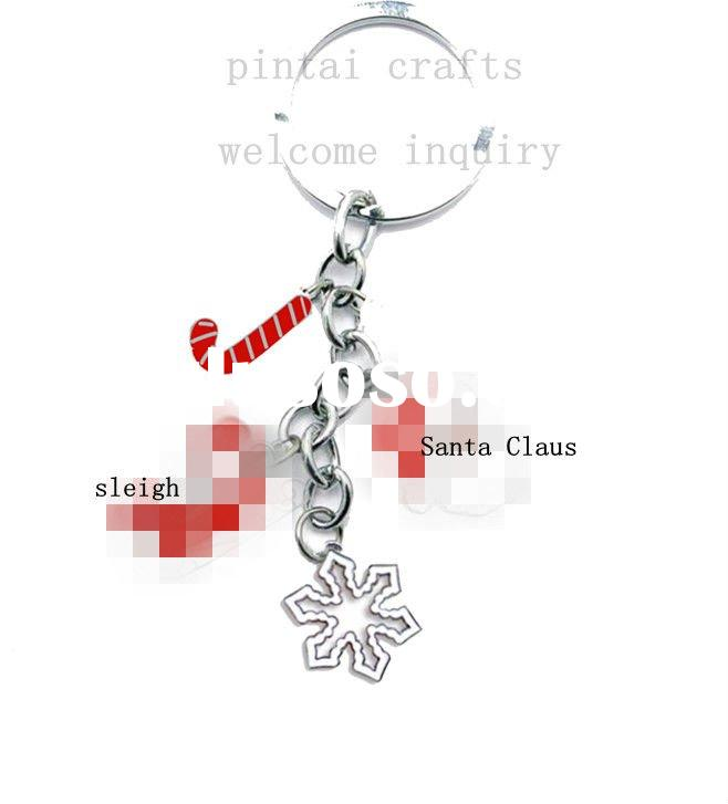 New design of christmas metal key chain with hidden parts