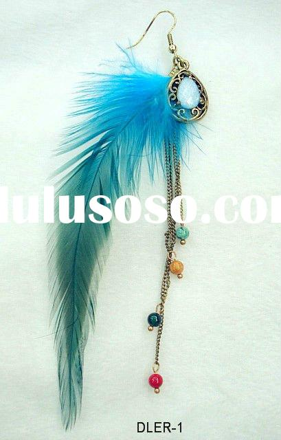 New style fashion spike feather earrings