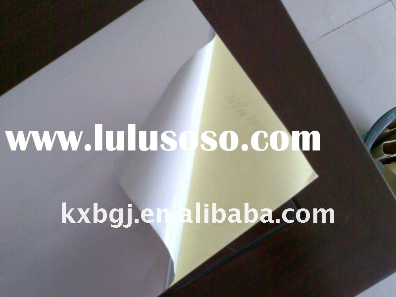 self adhesive cast coated paper(glossy,mirror )