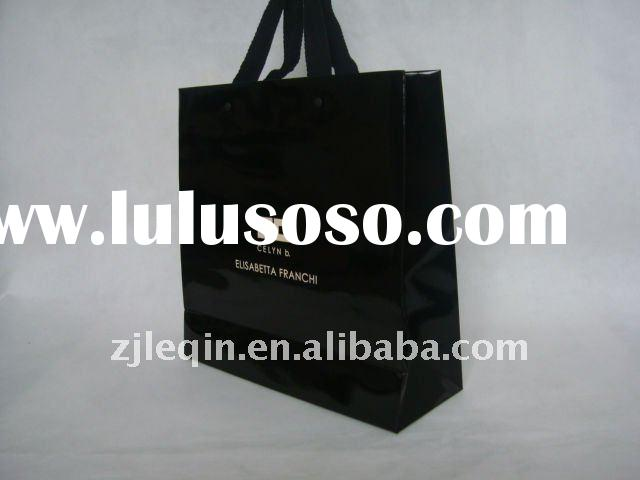 250g duplex paper bag with nice cotton handle and matt eyelets for clothes,gifts,promotion