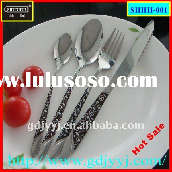 4-piece stainless steel cutlery set hotel flatware set