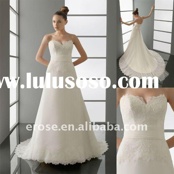 A-line Wedding Dress With Court Train AW-A035
