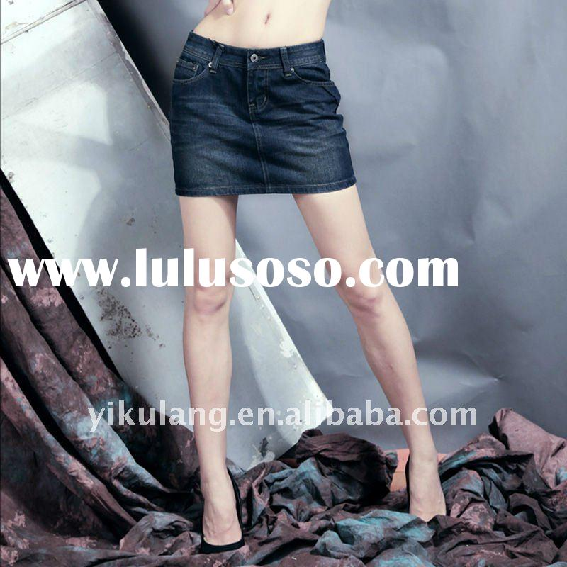 Jeans,women denim jeans skirt,100% Cotton Denim Jeans, Can Be Customized