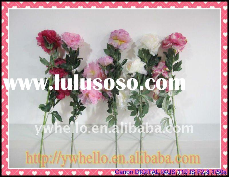 Three veil peony artificial  dried flower bouquet