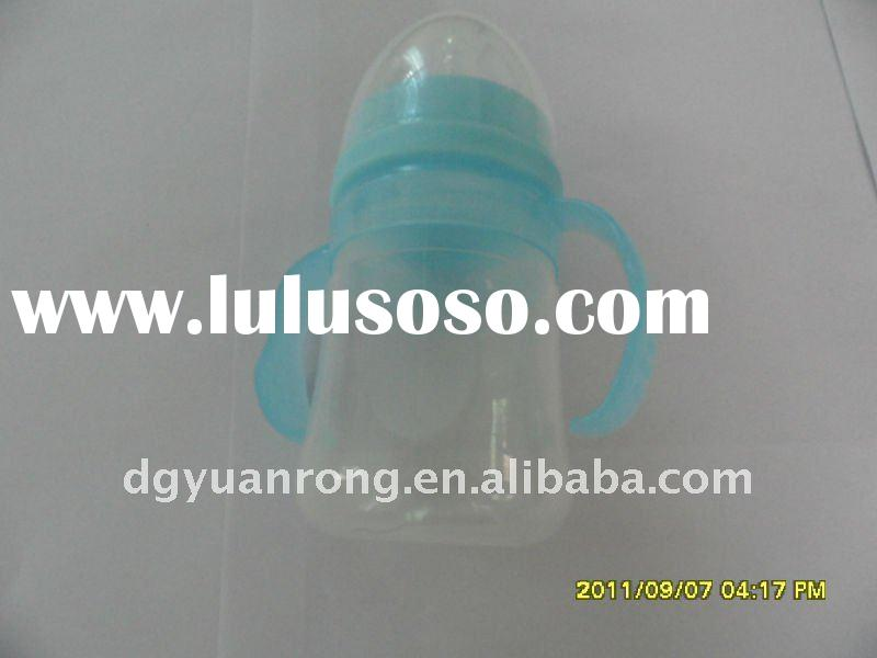YR231 170ml silicone baby feeding bottle with pp handle