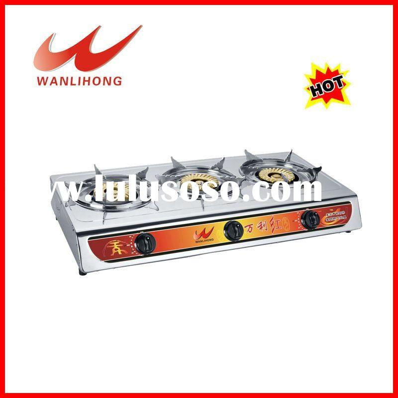 gas cooker 3 burner table top gas burner