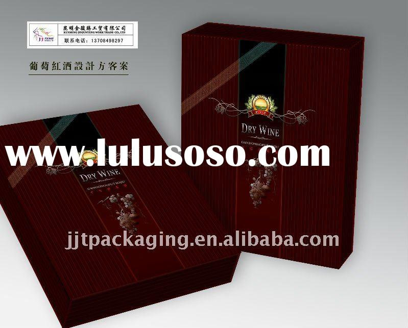 red wine box