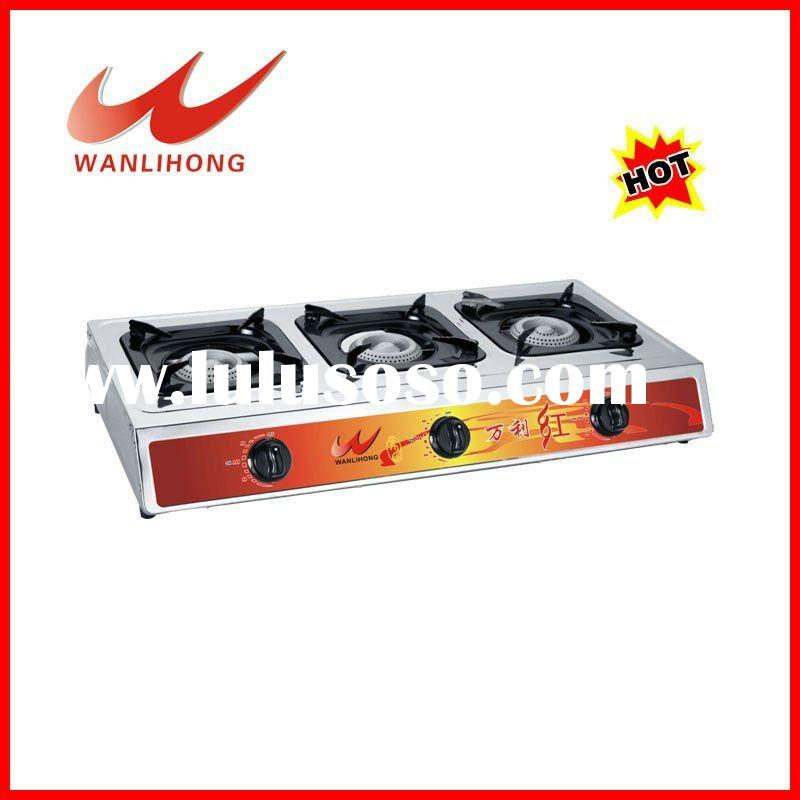 table top gas cooker 3 burner gas burner