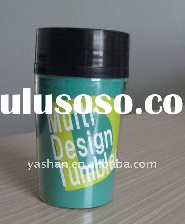 250ml promotion gift double plastic coffee cup