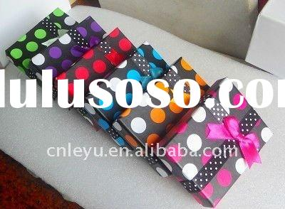 6 Colors New Paper Gift Box For Ring Necklace
