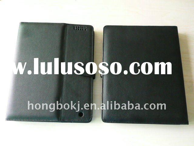 ABS bluetooth keyboard leather case with stand for Ipad 2