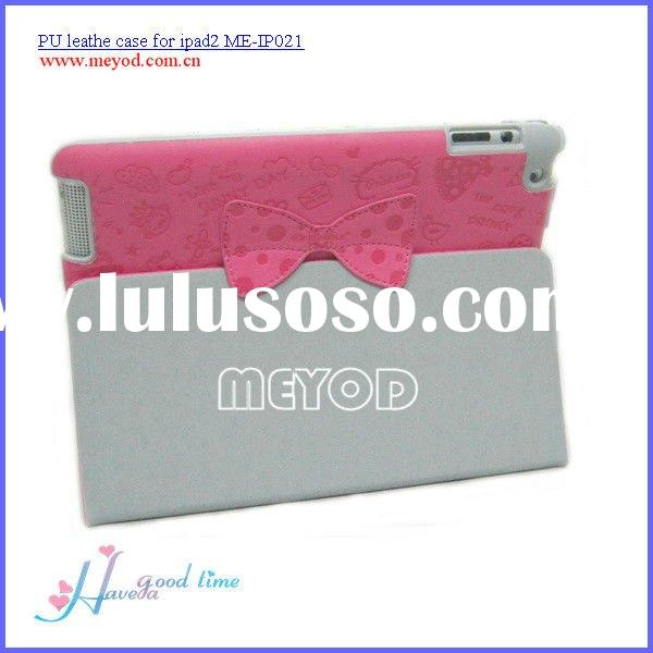 New design and high quality pu leather case for ipad2