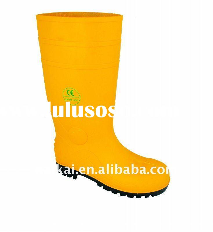 PVC Safety Steel Toe  Boots