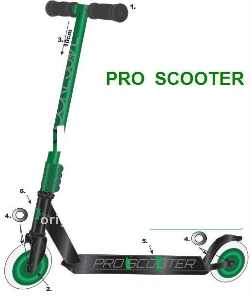 Ultra pro push/kick scooter ( OEM pro supplier) green