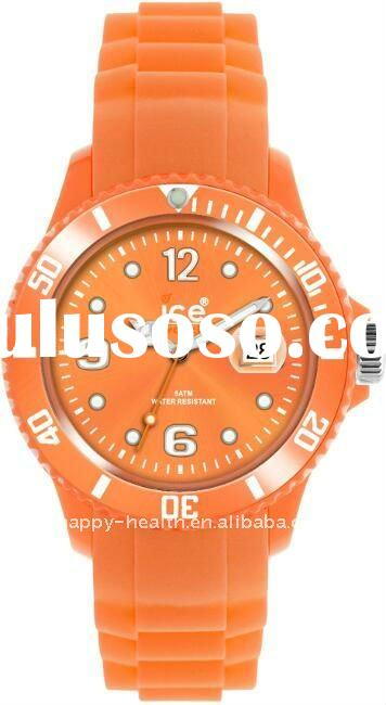 latest silicone ice wrist watch for men and women