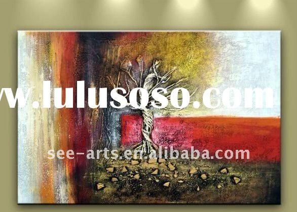 Canvas Painting Modern Abstract Landscape Wall Decor Tree
