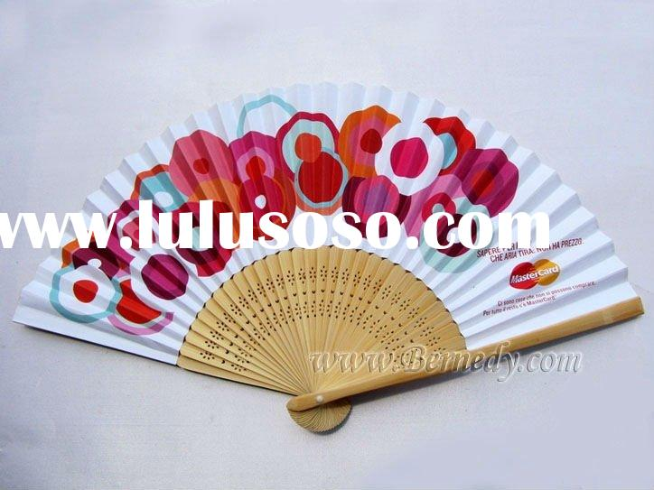 Custom paper fan for promotion gift or holiday souvenir