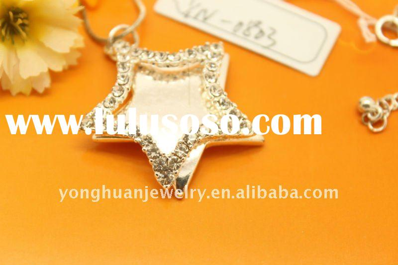new style best selling silver plated star pendant fashion costume jewelry