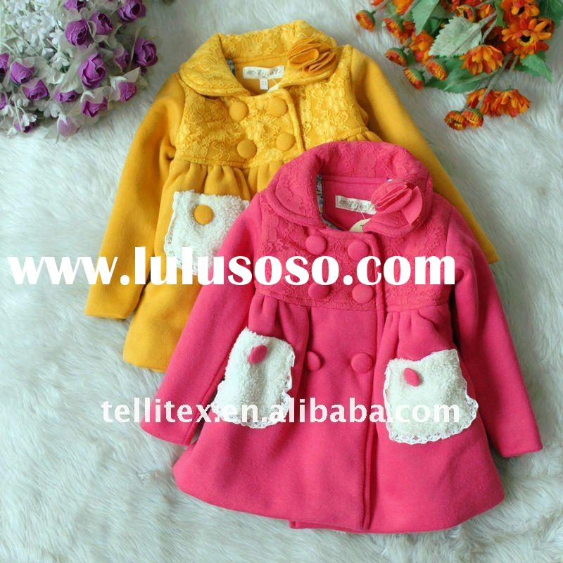 2011 New Arrival Children's Coat Girls' Coat  with Pockets