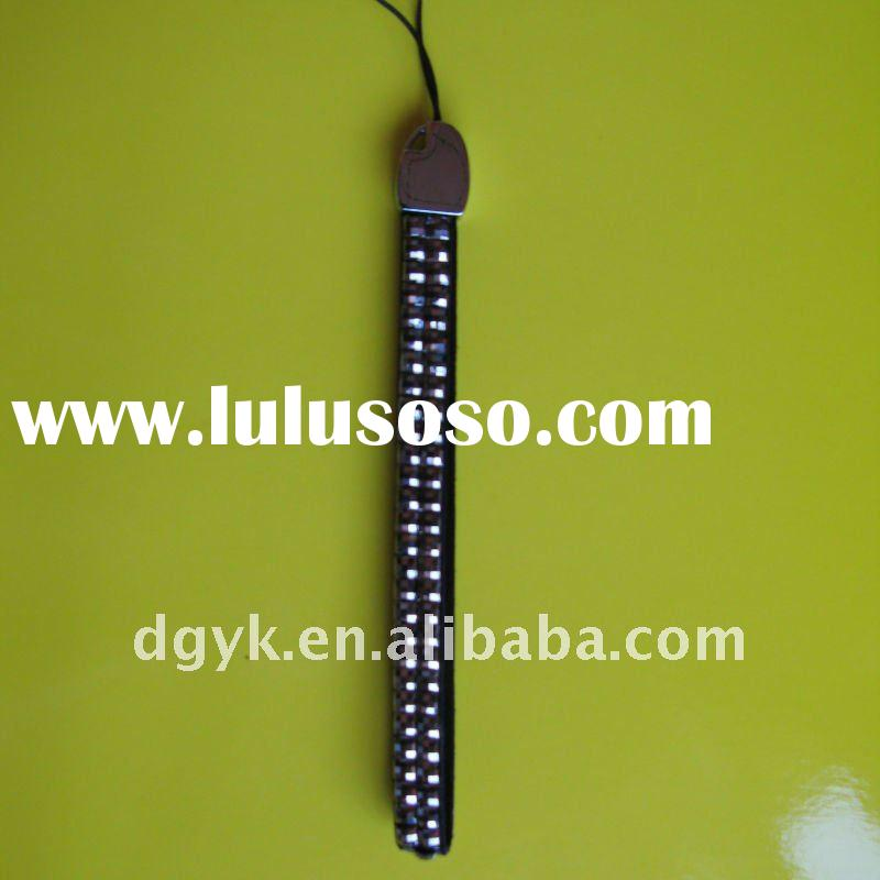 Leather Mobile Phone Strap/ Crystal Mobile Phone Chain