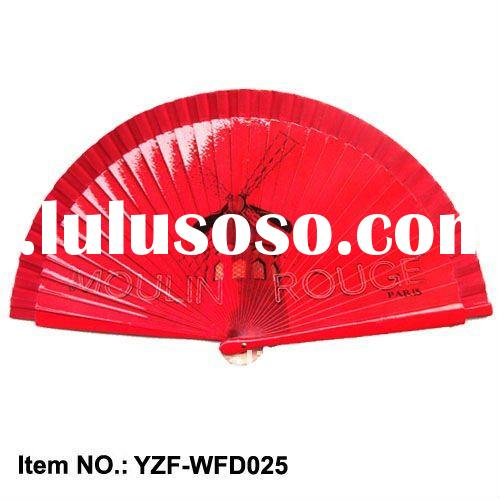 Wood hand fan for promotion gifts with good quality