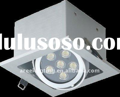 adustable square 6w led ceiling light