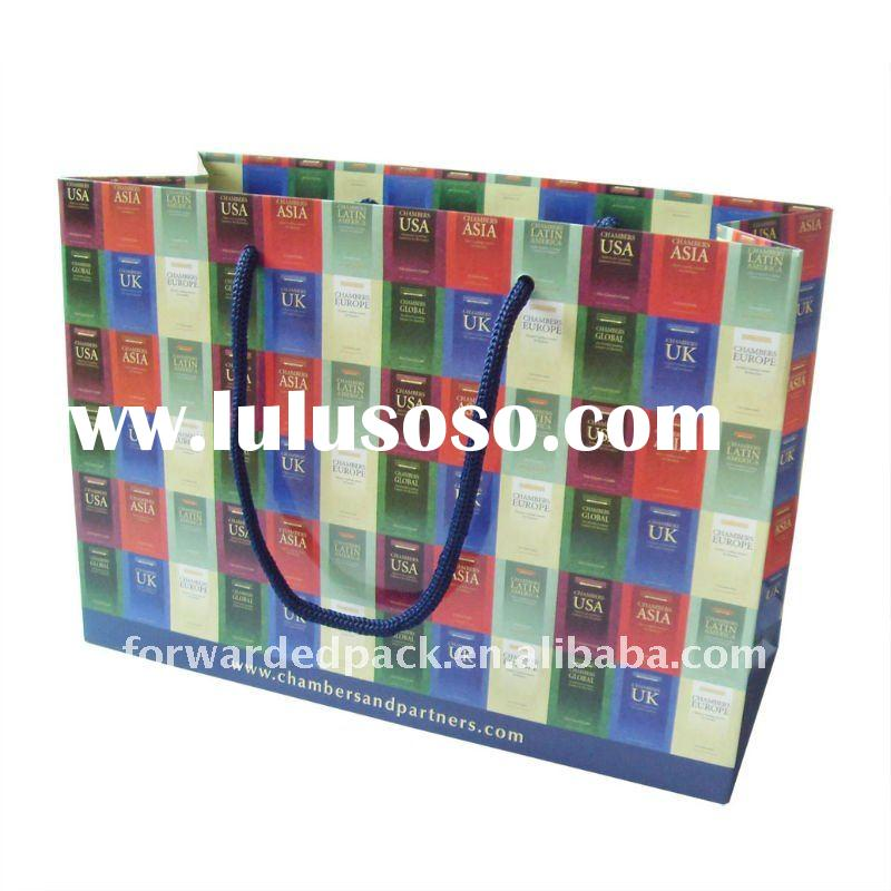 colorful recycled  christmas paper bag