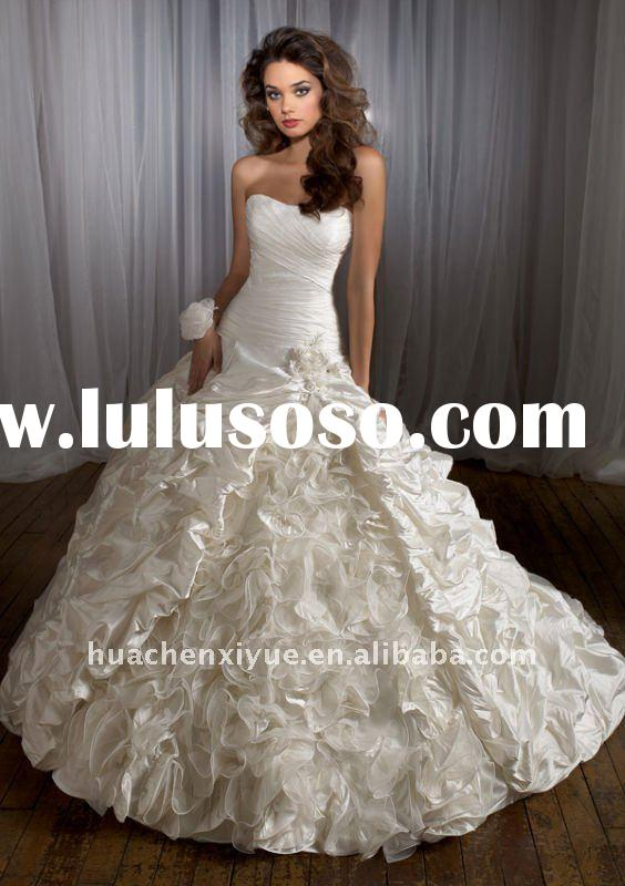 corset back strapless wedding gown (WG91)