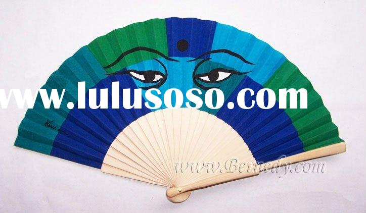 customize Chinese wooden fan