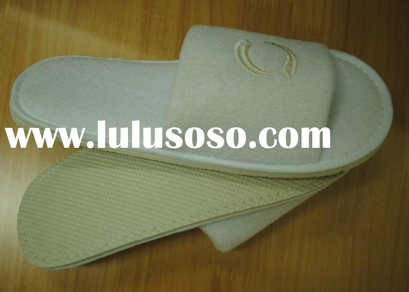 disposable terry toweling hotel slipper with eva sole