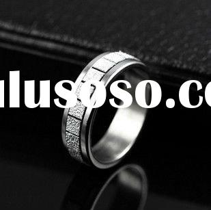 fashion stainless steel jewelry engagement ring