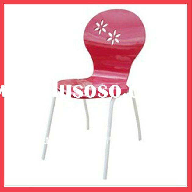 popular bentwood chair with flower print on back