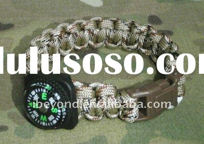 strong paracord survival bracelet with compass