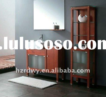 2011 the newest model 3011 solid wood bathroom cabinet with marble top