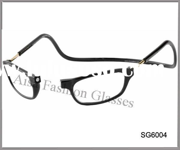 Fashion plastic reading glasses+metal legs