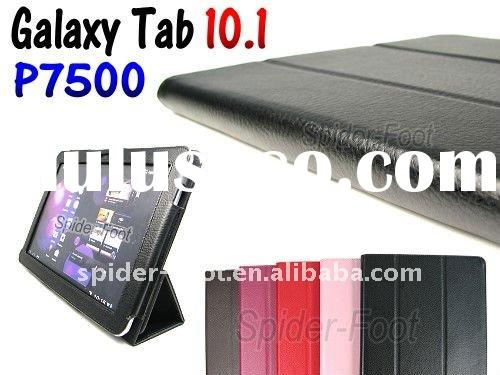 Stand Leather Case +screen protector+ stylus pen for Samsung Galaxy Tab 10.1 P7500 P7510
