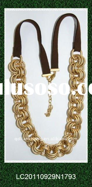 gold plating fashion bold necklace