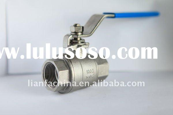 Stainless Steel 2PC Ball Valve LIGHT DUTY1000PSI Butt Welded