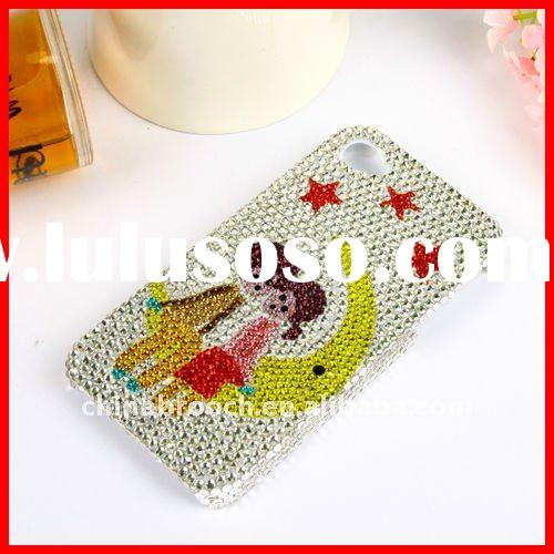 lovely crystal hard shell case for iphone4