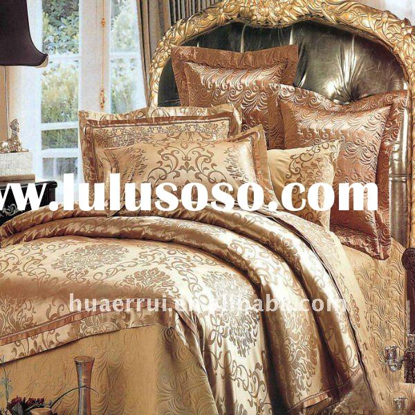 100% cotton satin jaquard bedding set luxury