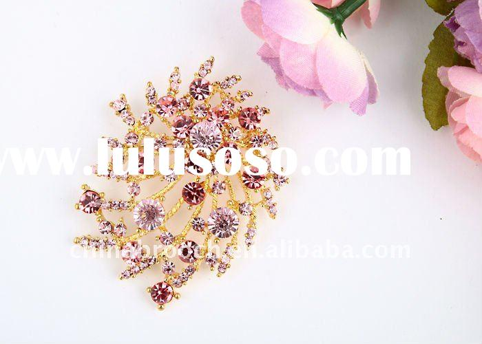 alloy rhinestone brooch for wedding invitations