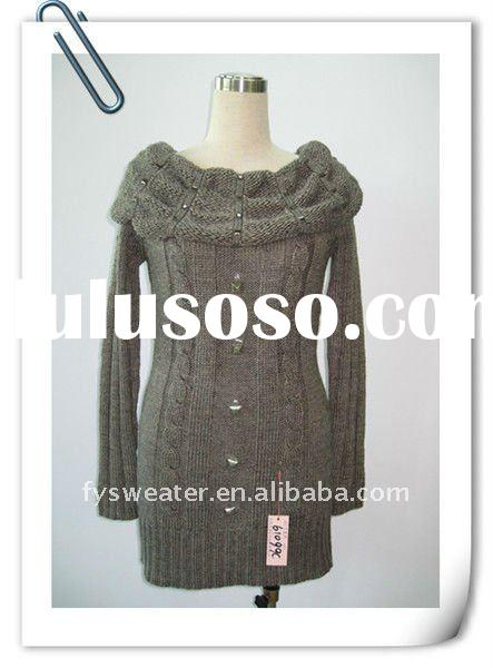 2012 Cable long sleeve ladies casual dresses