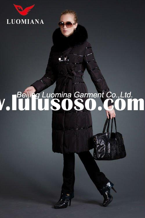 HOT SALE: Popular Women`s Long Down Jackets with Factory Price