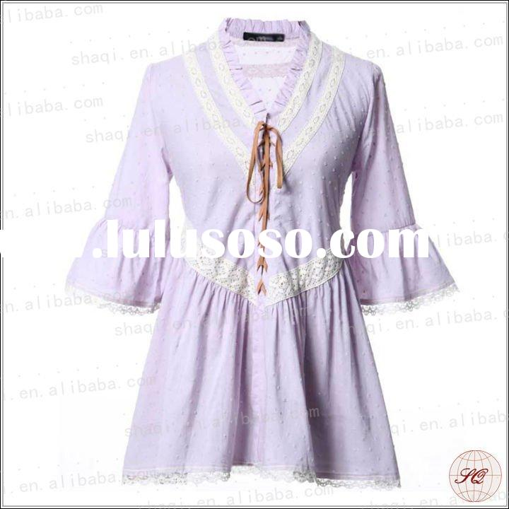 Princess sweety style cotton shirt for ladies